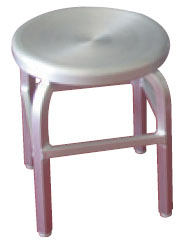 18 Inch Indoor Outdoor Backless Aluminum Swivel Seat Bar Stool