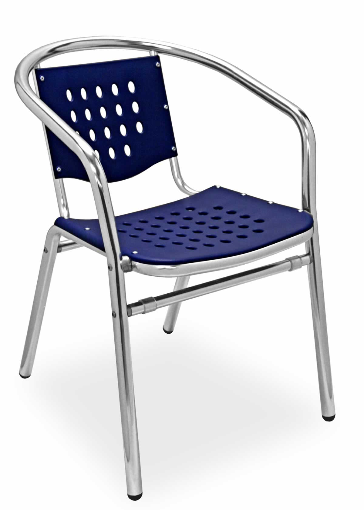 Aluminum Frame Plastic Seat Arm Chair Sa03c Commercial