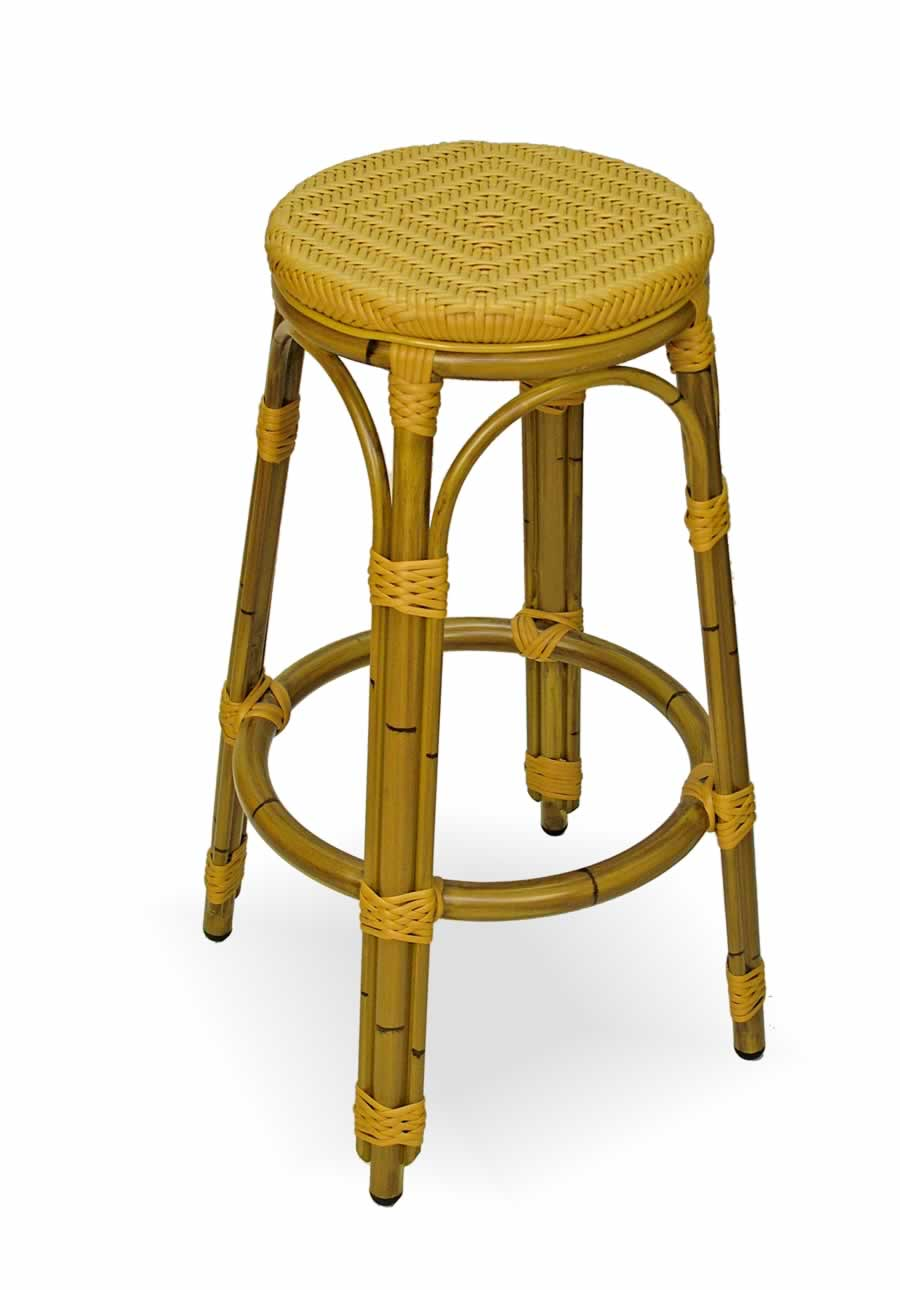 Aluminum Rattan Finish Frame Backless Bar Stool Sa1608b