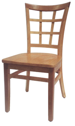 Attractive Asian Beech Lattice Back Chair