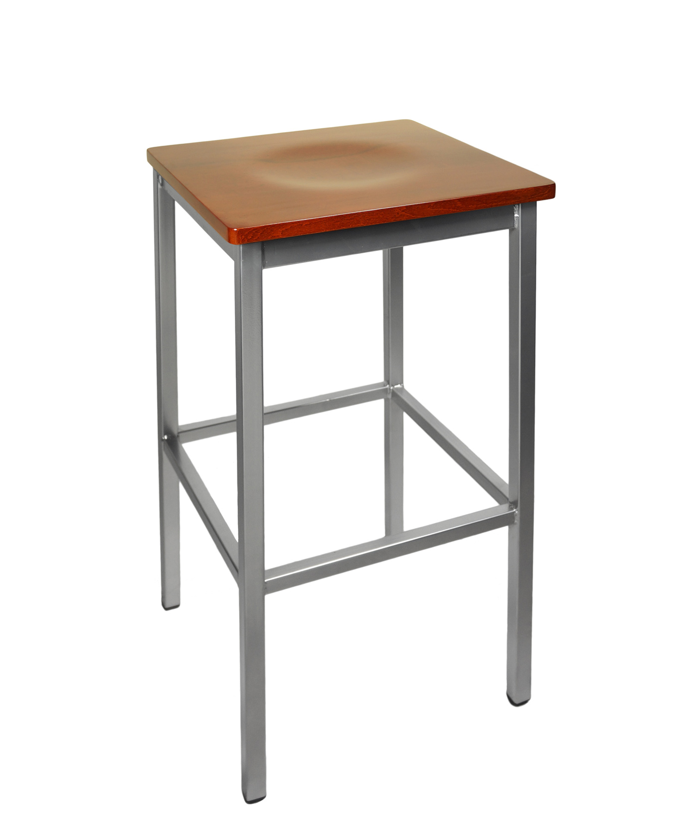 Backless Square Metal Stools F2510b Commercial Restaurant