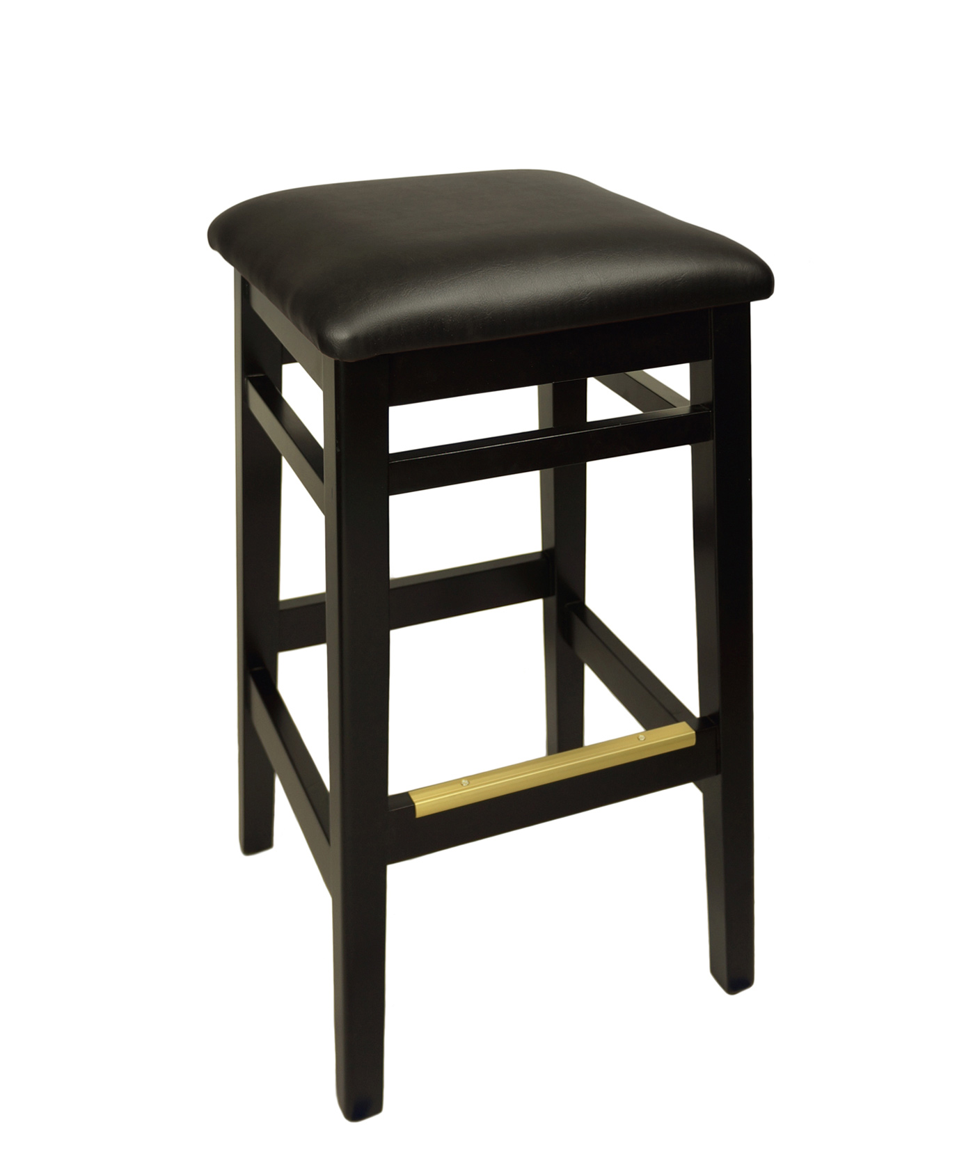 Backless Wood Frame Square Seat Stool Fwb680b Commercial
