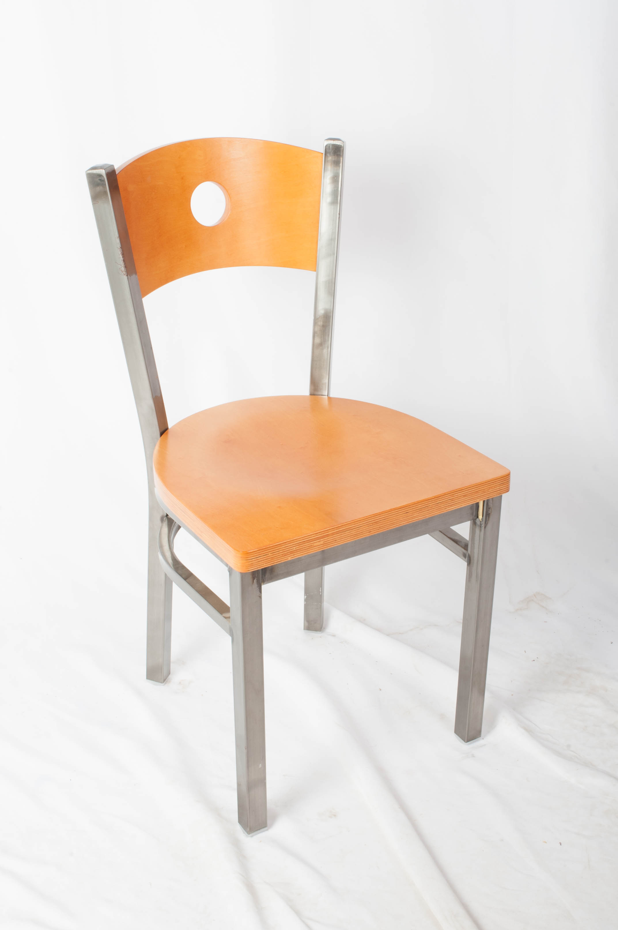 Circle Back Clearcoat Side Chair J1008cs Commercial
