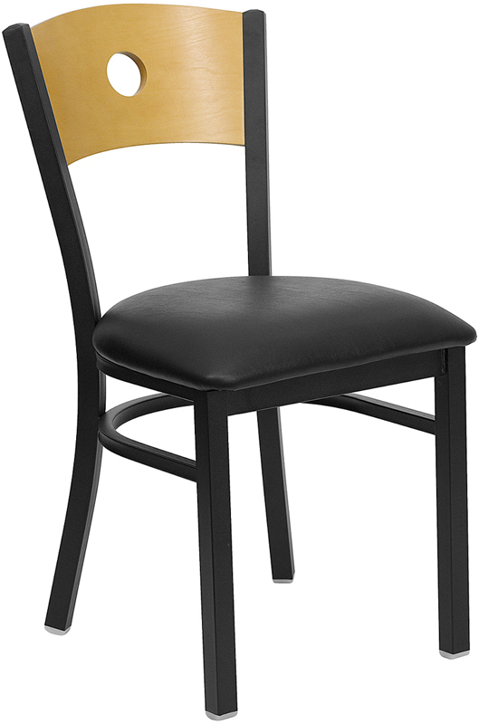 circle natural wood back chair fl 6f6c commercial restaurant