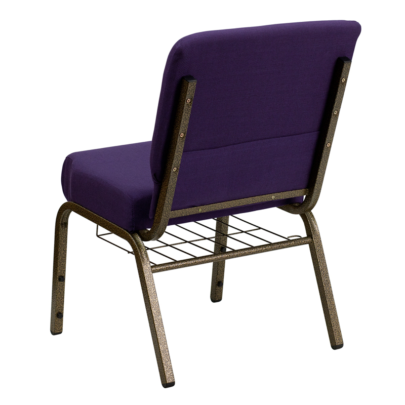 Gold Vein Frame 21 Inch Wide Church Chair With Small
