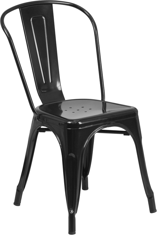 Genial Industrial Metal Indoor Outdoor Chair