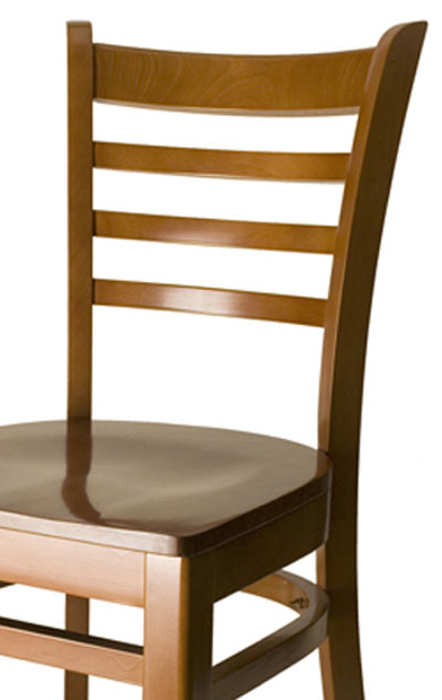 Ladder back wood side chair fw c commercial restaurant