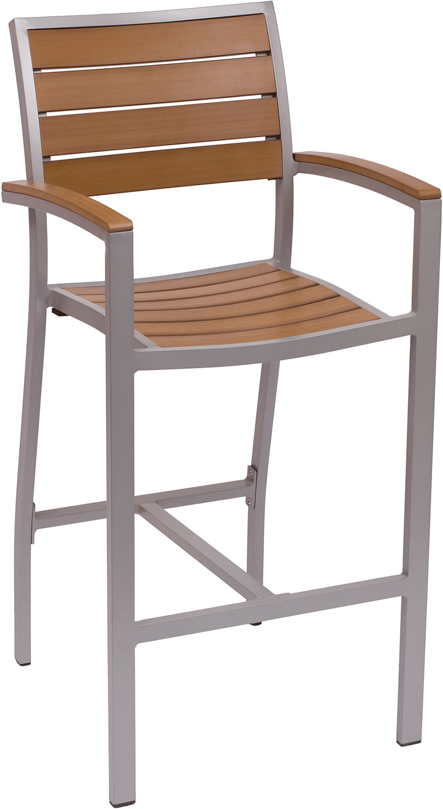 Largo Synthetic Teak Arm Bar Stool Fph101btk Commercial