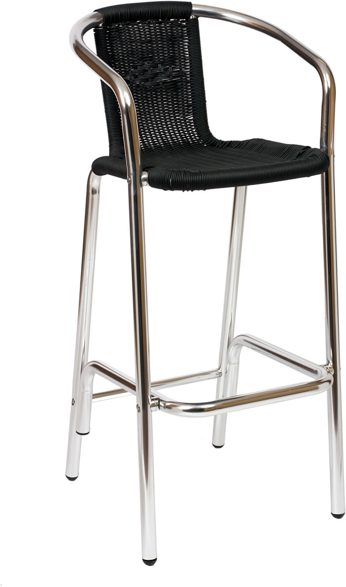 madrid wicker aluminum bar stool fki51b commercial restauran