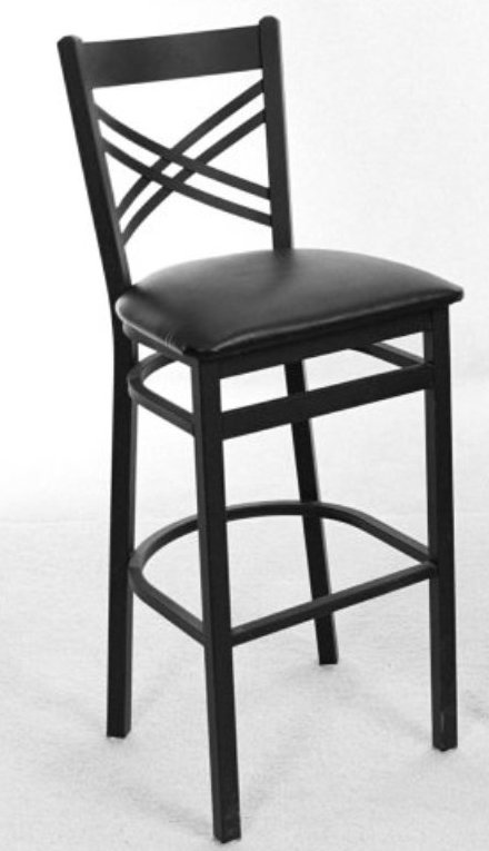 Metal Frame Crossback Bar Stool Osl2130b Commercial