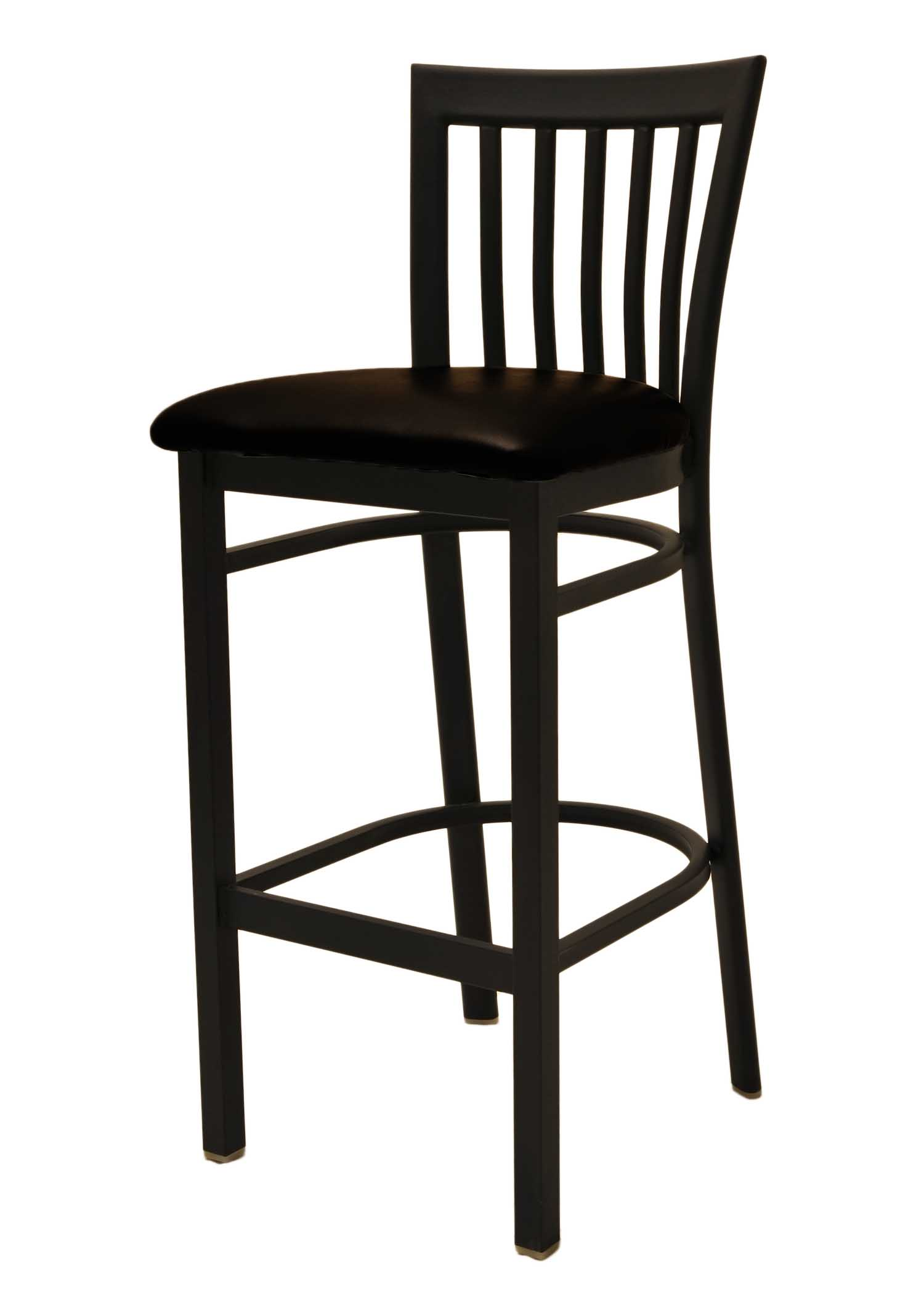 metal frame jailhouse back bar stool picture 1 - Metal Bar Stools With Backs