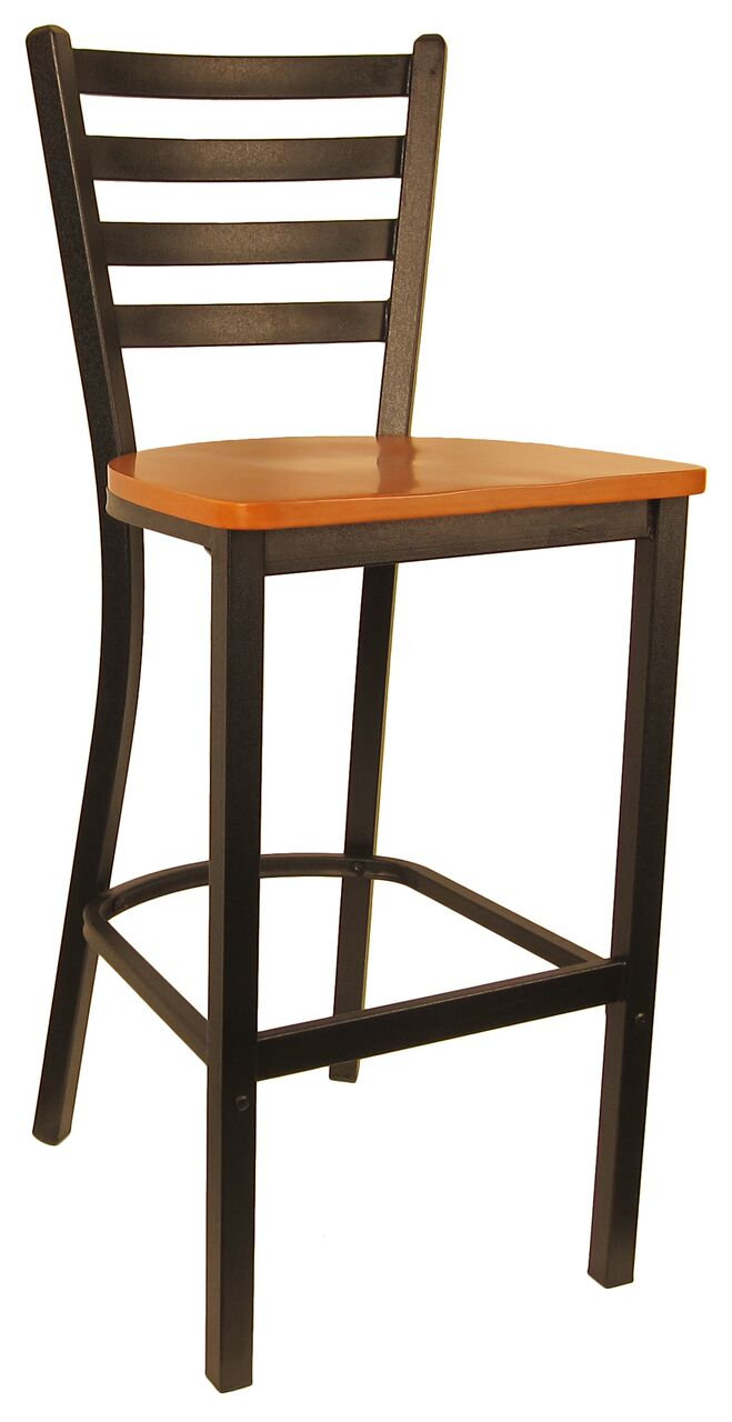 Metal Frame Ladder Back Bar Stool H6145b Commercial