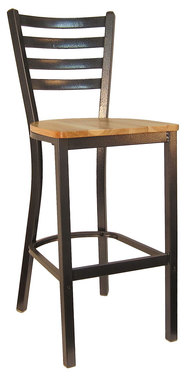Metal Frame Ladder Back Bar Stool (Silvervein Frame) H6147B ...