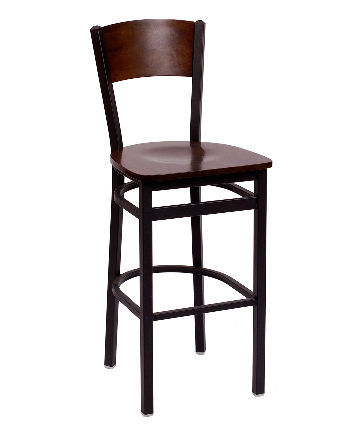 Metal Frame Solid Wood Back Bar Stool F2150B Commercial