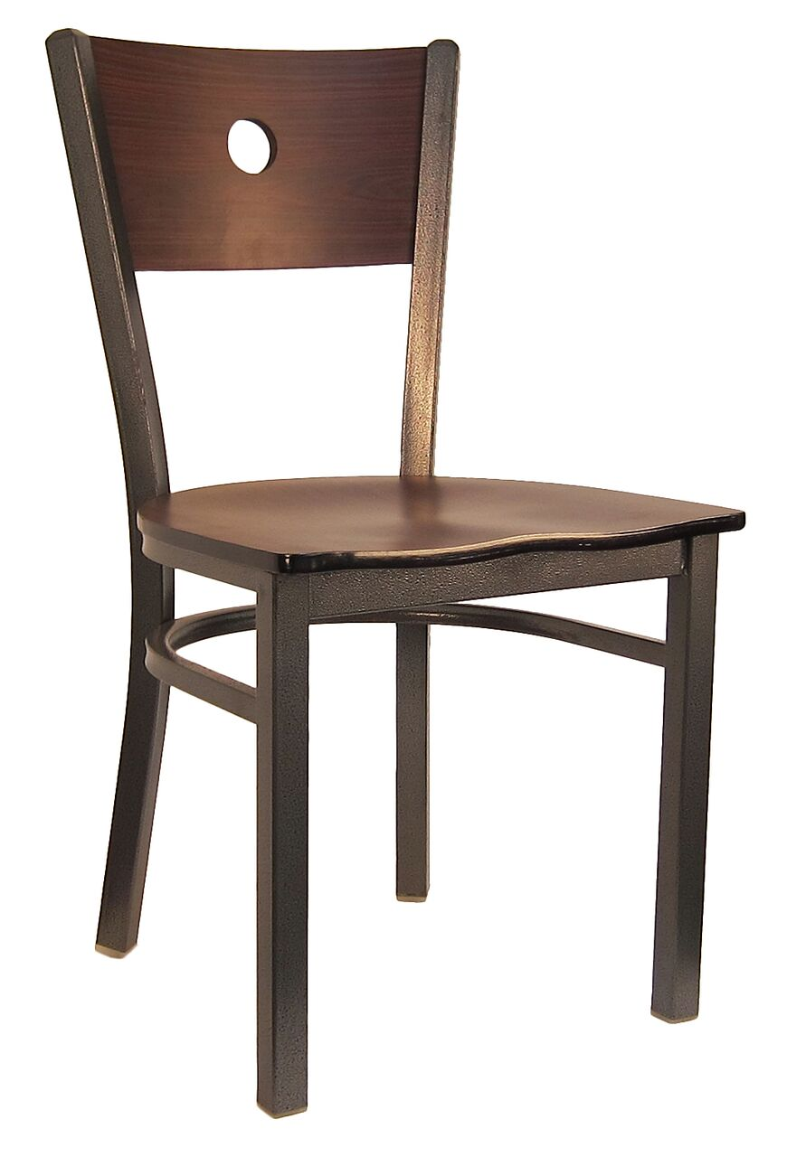 Metal Frame Wood Moon Back Chair H6149c Commercial