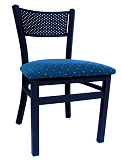 Metal Mesh Back Side Chair   Black Picture 1