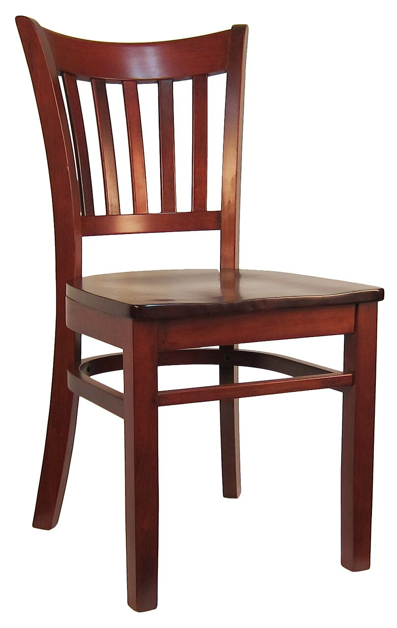 Open Vertical Back Wood Chair H8642c Commercial Restaurant