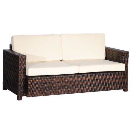 Outdoor Wicker Weave Couch