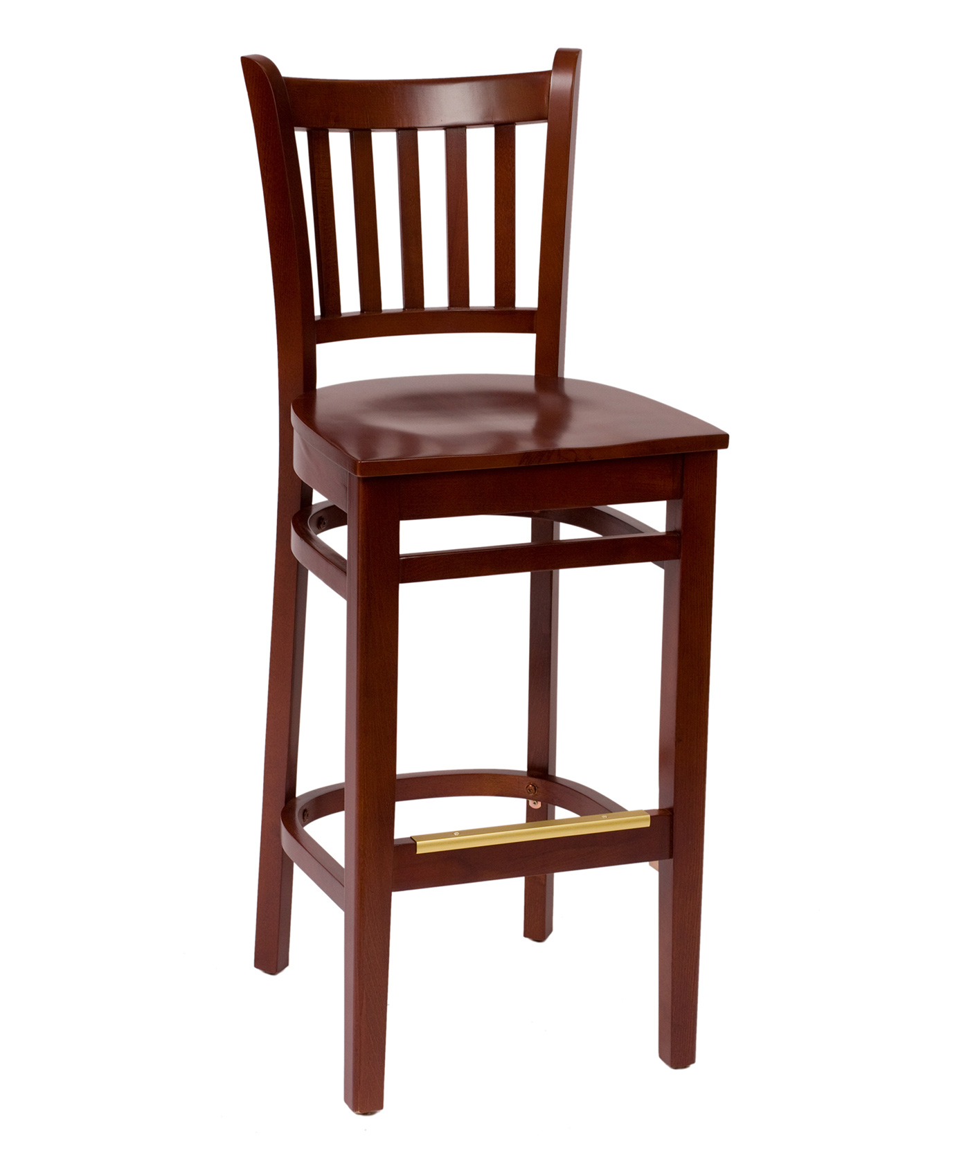 Slat Back Wood Bar Stool Fw102b Commercial Restaurant