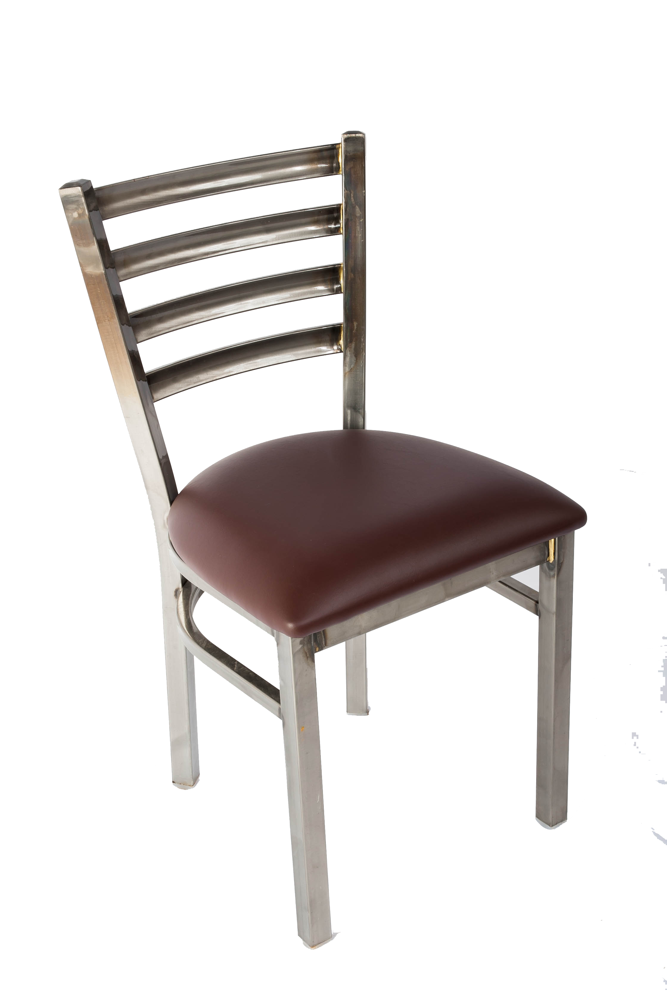 White Horse Clear Coat Ladder Back Side Chair