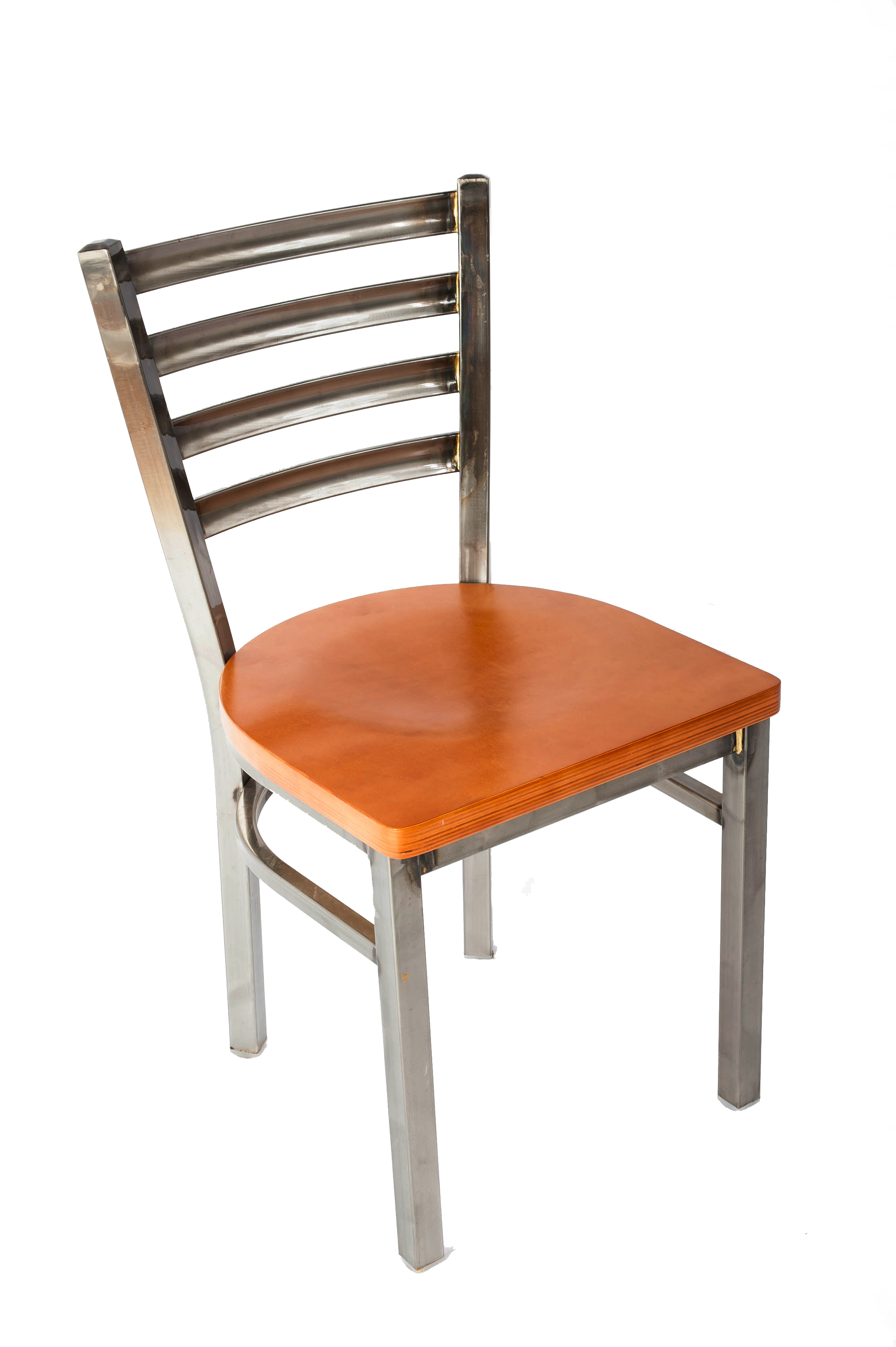Charmant White Horse Clear Coat Ladder Back Side Chair