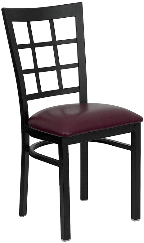 Window Pane Back Metal Frame Side Chair FL6Q4BWINC commercial ...