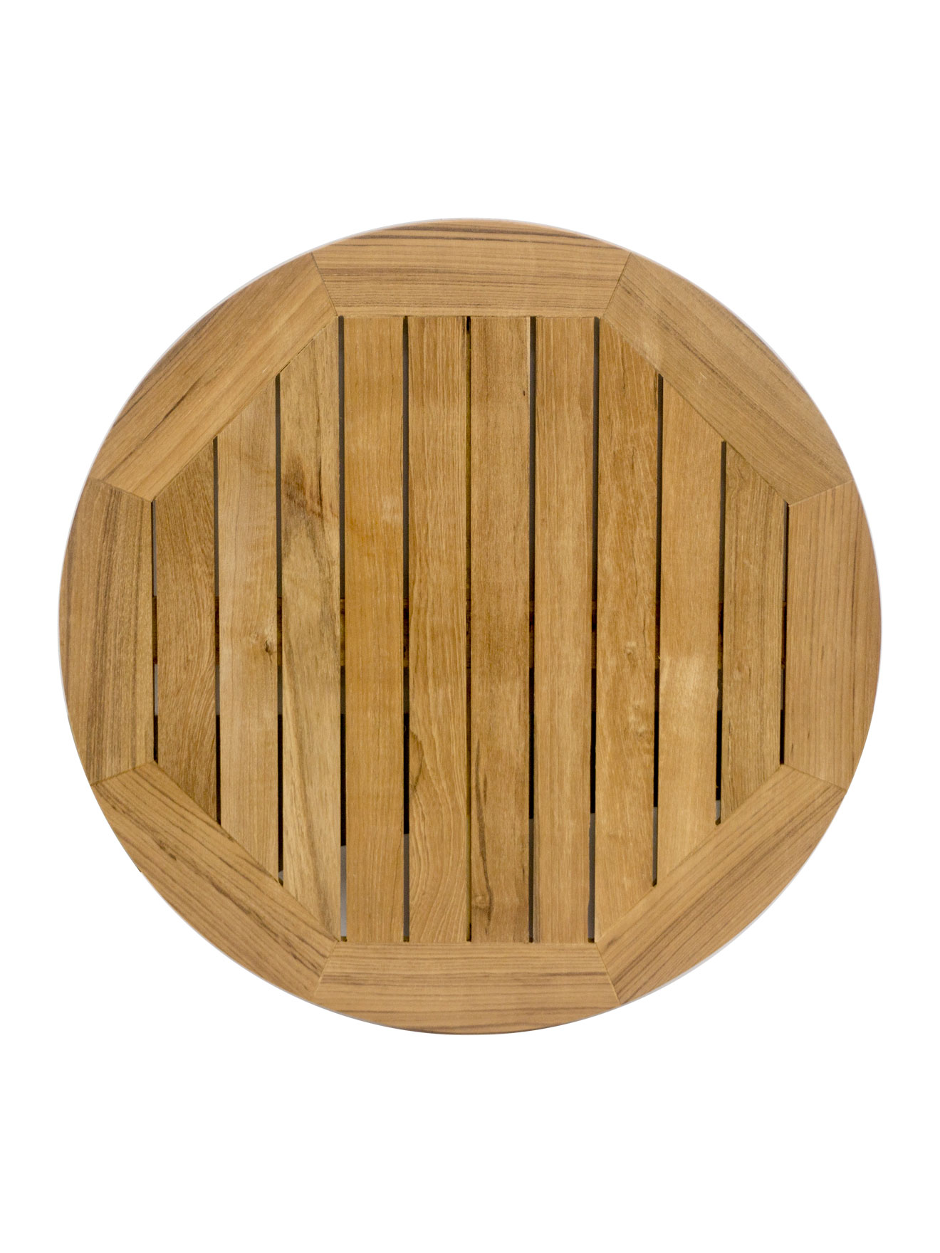 Real Teak Wood Round Indoor Outdoor Table Top Stkr