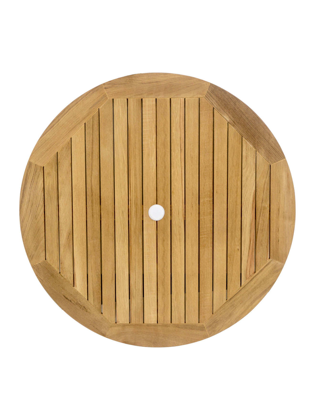 Real Teak Wood Round Indoor/Outdoor Table Top