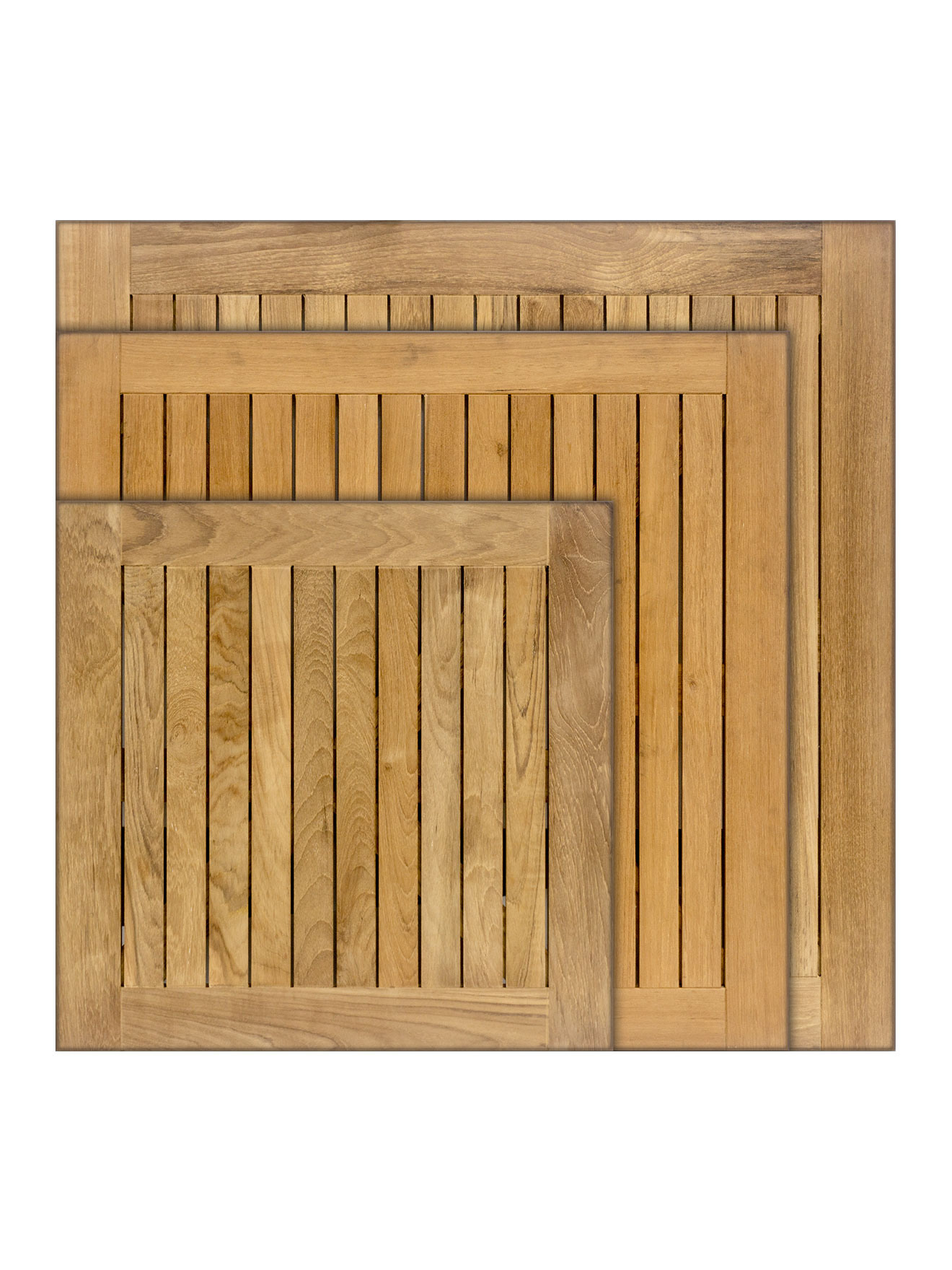 Real Teak Wood Square Indoor Outdoor Table Top Stks